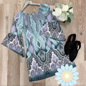💙Women's Plus Size 3x Bell Sleeve Dress ~ NWT💜